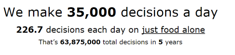 35,000 Decisions a Day!